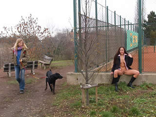 Two students from Poland fuck with a dog for...
