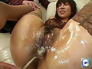 Japanese girl at a private bestiality party